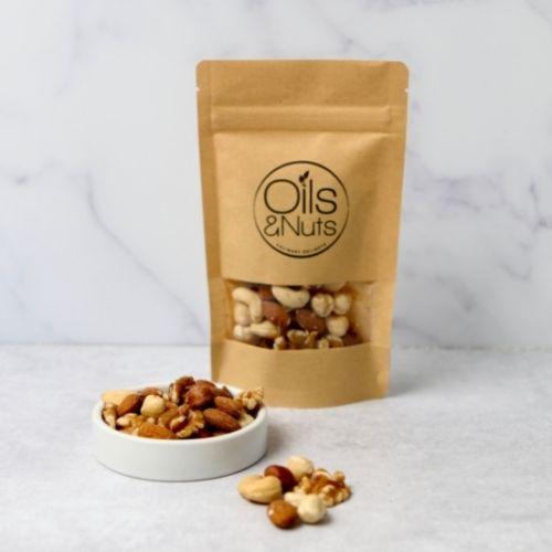 Duurzame notenmix met verschillende soorten noten