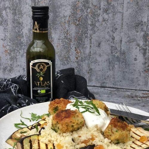Atlas Olive Oil olijfolie met gegrilde groenten